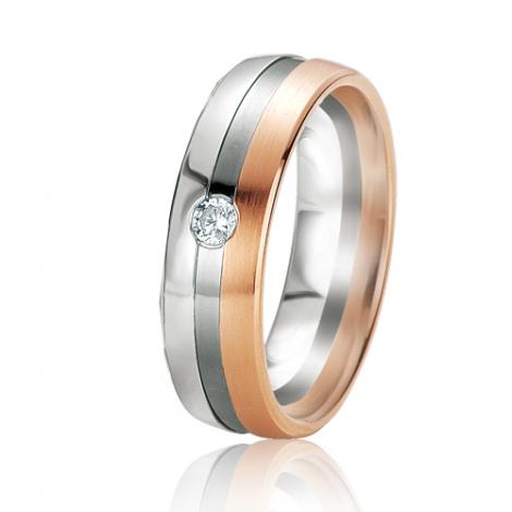 Alliance Black & White Théia 6 mm 2 Ors diamant -06115