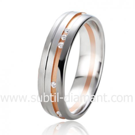 Alliance Black & White Uranie 5.5 mm Or et Ruthenium diamant -06333
