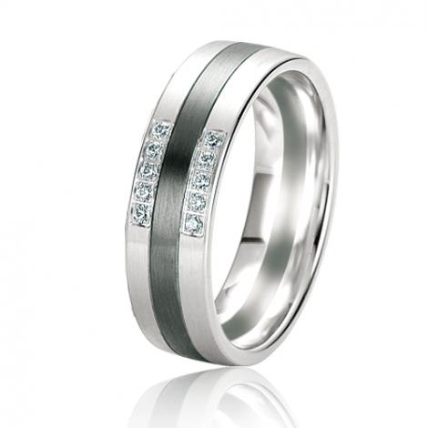 Alliance Black & White Veronica 6 mm Or Blanc diamant -06139
