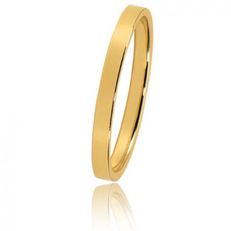 Alliance Bonheur en or jaune large de 2 mm Delphine-HABHR2J