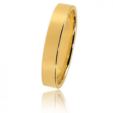 Alliance Bonheur en or jaune large de 3.5 mm Darjeeling-HABHR35J