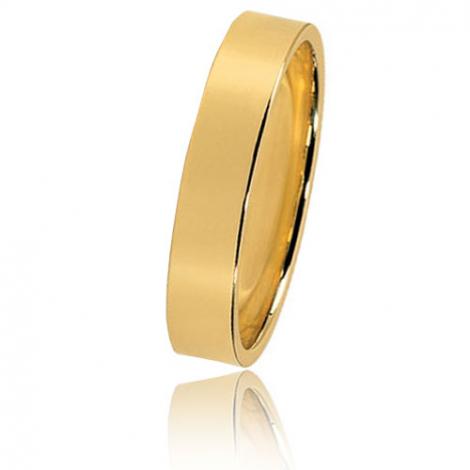 Alliance Bonheur en or jaune large de 4 mm Kali-HABHR4J