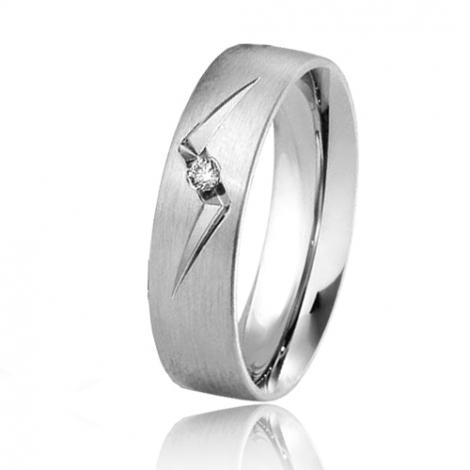 Alliance Breuning Inspiration Catarina 5.5 mm Or Blanc diamant