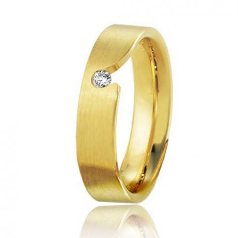 Alliance Breuning Inspiration Éléonore 5 mm Or Jaune diamant