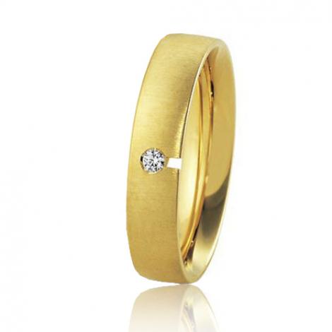 Alliance Breuning Inspiration Elsa 4.5 mm Or Jaune diamant