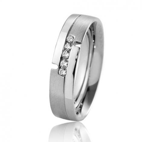 Alliance Breuning Inspiration Esha 5 mm Or Blanc diamant