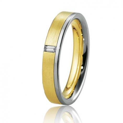 Alliance Breuning Inspiration Féerique 4 mm 2 Ors diamant