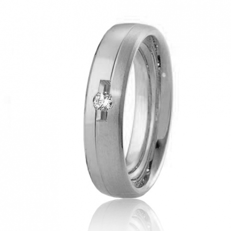 Alliance Breuning Inspiration Héloïse 5 mm Platine 950 diamant