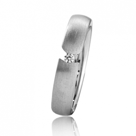 Alliance Breuning Inspiration Naïs 4.5 mm Or Blanc diamant