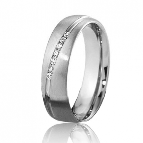 Alliance Breuning Inspiration Promesse 5.5 mm Or Blanc diamant