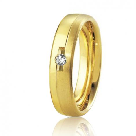 Alliance Breuning Inspiration Yustina 5 mm Or Jaune diamant