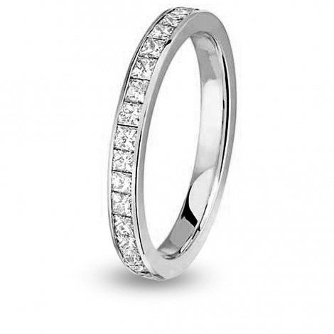 Alliance comtesse princesse tour Complet MM Or Blanc - 1.36 ct - Maria