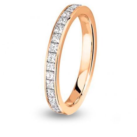 Alliance comtesse princesse tour Complet MM Or Rose - 1.36 ct - Rosie