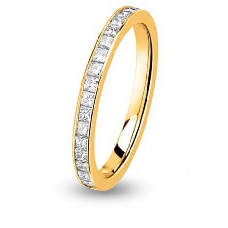 Alliance comtesse princesse Tour complet Or Jaune - 1.04 ct - Mareva