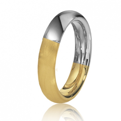 Alliance de mariage en 2 Ors 4.5 mm