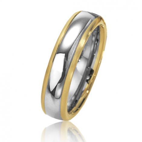 Alliance de mariage en 2 Ors 5.5 mm
