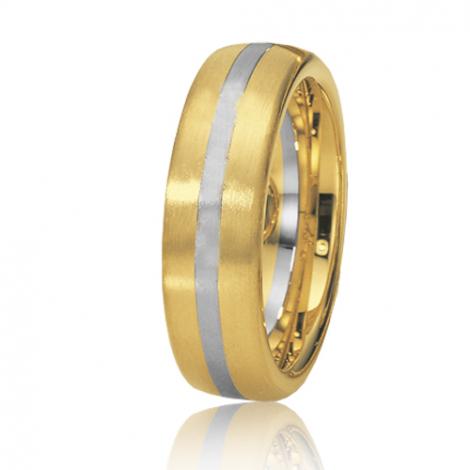 Alliance de mariage en 2 Ors 6.5 mm