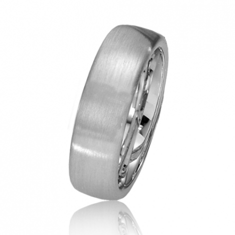 Alliance de mariage en Or Blanc 6.7 mm