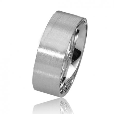 Alliance de mariage en Or Blanc 7 mm