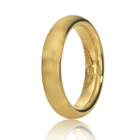 Alliance de mariage en Or Jaune 4.5 mm
