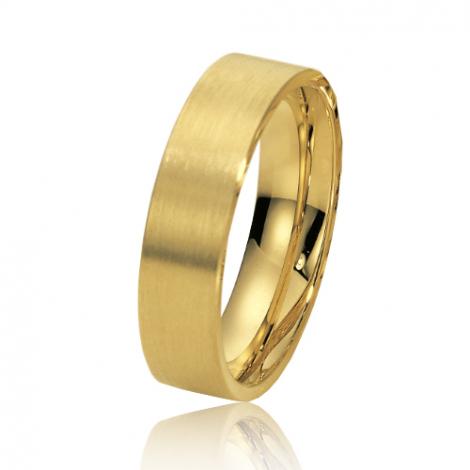 Alliance de mariage en Or Jaune 6 mm