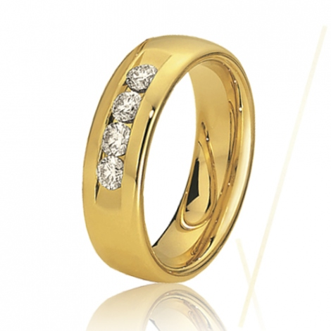 Alliance de mariage en Or Jaune 6 mm