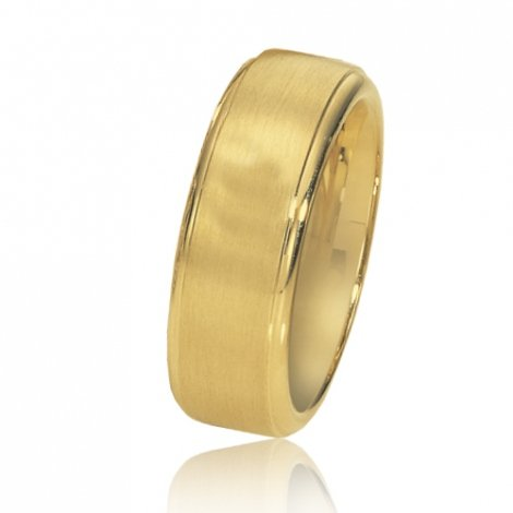 Alliance de mariage en Or Jaune 7.5 mm