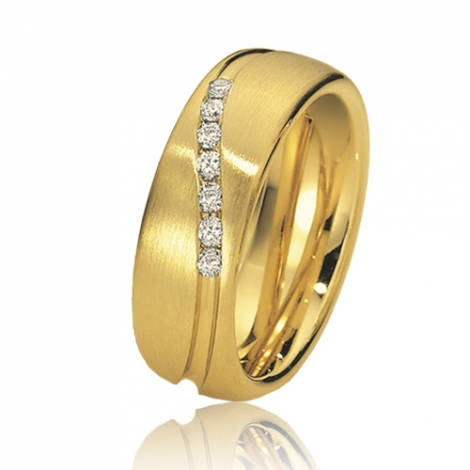 Alliance de mariage en Or Jaune 7 mm