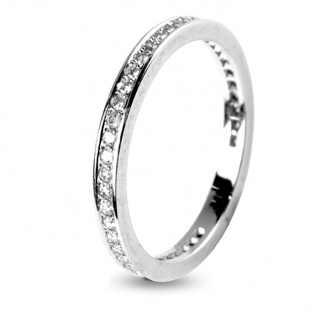 Alliance diamant 0.40 ct Marianna en Or Blanc