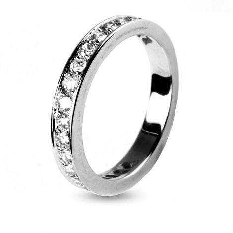 Alliance diamant 0.70 ct Love en Or Blanc