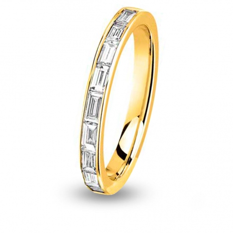 Alliance diamant  baguette demi tour Or Jaune - 0.63 ct - Ondine