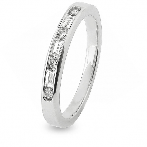 Alliance Diamant Baguette  en Or Blanc 2.9 mm - Artémis