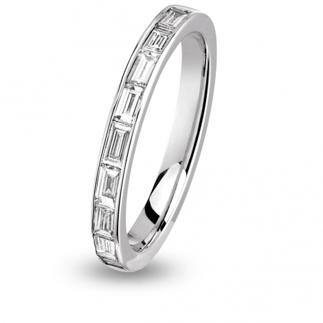 Alliance diamant  baguette Tour Complet Or Blanc - 1.26 ct - Akina
