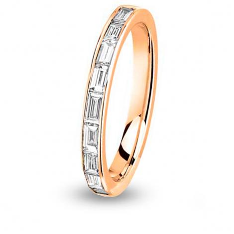 Alliance diamant  baguette Tour Complet Or Jaune - 1.26 ct - Esha