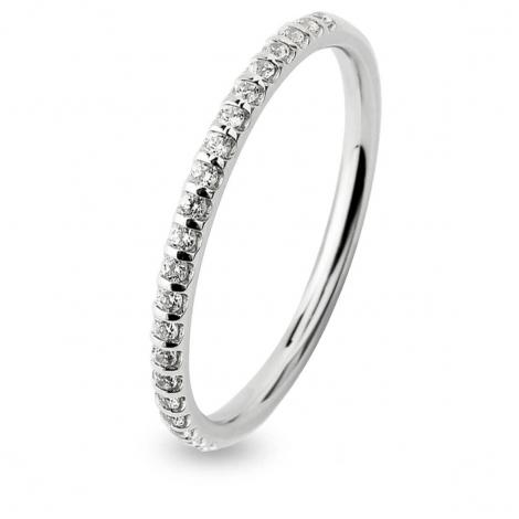 Alliance Diamant Barrettes 0.15 ct  en Or Blanc 1.2 mm