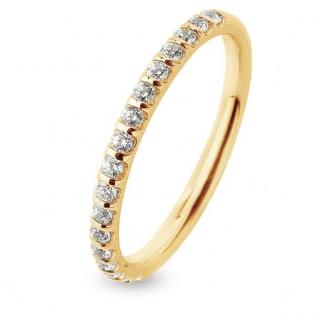 Alliance Diamant Barrettes 0.25 ct  en Or Jaune 1.55 mm
