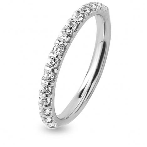 Alliance Diamant Barrettes 0.38 ct  en Or Blanc 1.9 mm
