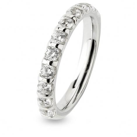 Alliance Diamant Barrettes 0.75 ct  en Or Blanc 2.65 mm