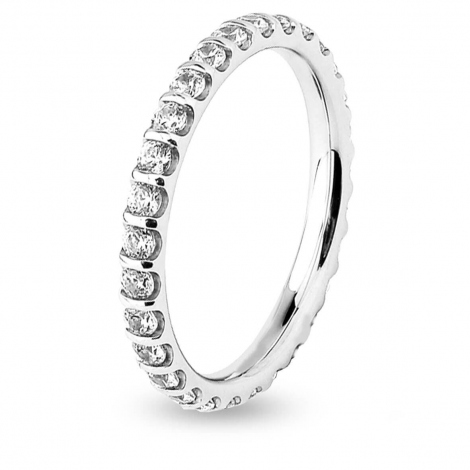 Alliance Diamant Barrettes 0.75 ct Iotua en Or Blanc