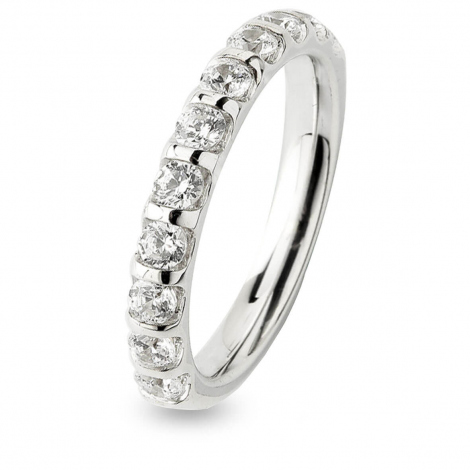 Alliance Diamant Barrettes 0.75 ct Manon en Or Blanc 2.65 mm