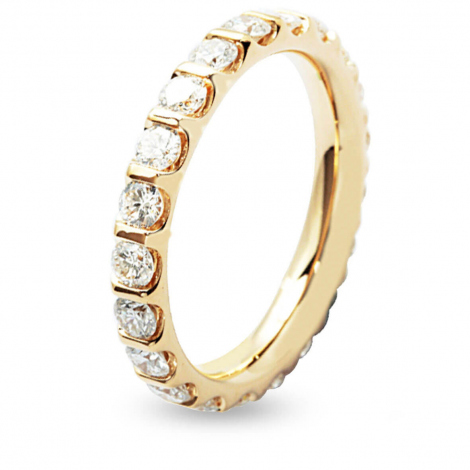 Alliance Diamant Barrettes 1.5 ct Anaëlle en Or Jaune