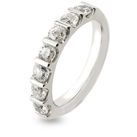 Alliance Diamant Barrettes 1.5 ct  en Or Blanc 3.8 mm