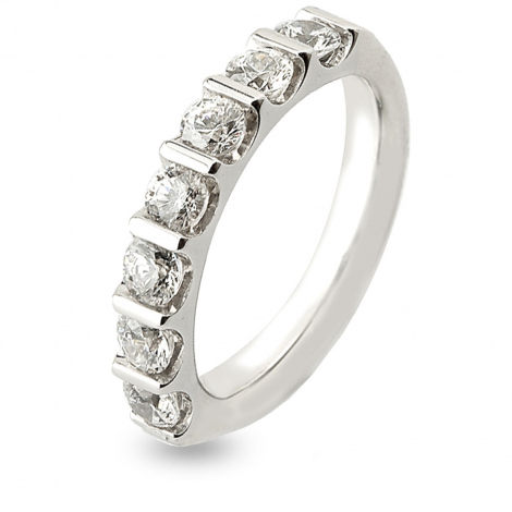 Alliance Diamant Barrettes 1.5 ct Virginie en Or Blanc 3.8 mm