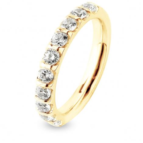 Alliance Diamant Barrettes 1 ct Hannah en Or Jaune 2.95 mm
