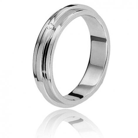 Alliance diamant Bonheur  0,02 ct or blanc Or Blanc - 0.01 ct - Nymphea