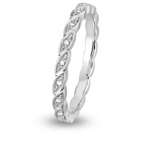 Alliance diamant Demi Tour EPI FOREVER Or Blanc - 0.05 ct - Vahiné