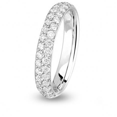 Alliance diamant demi tour Jonc parisien Or Blanc - 0.68 ct - Louna