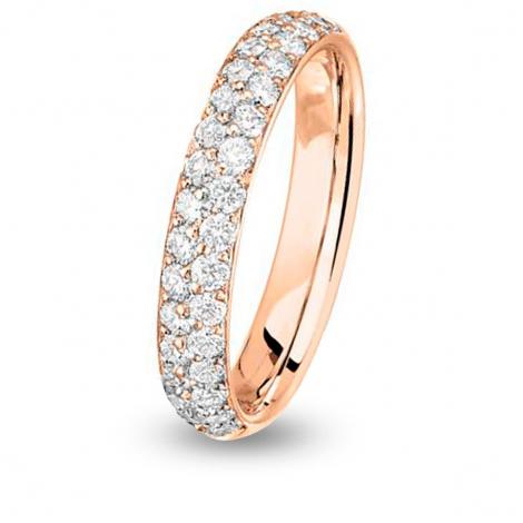 Alliance diamant demi tour Jonc parisien Or Rose - 0.68 ct - Mahealani