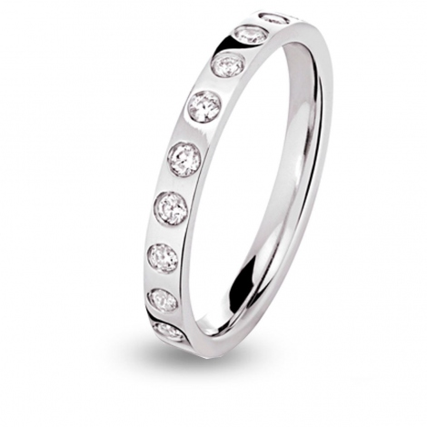 Alliance diamant Eclat Tour complet Or Blanc - 0.44 ct - Sofia
