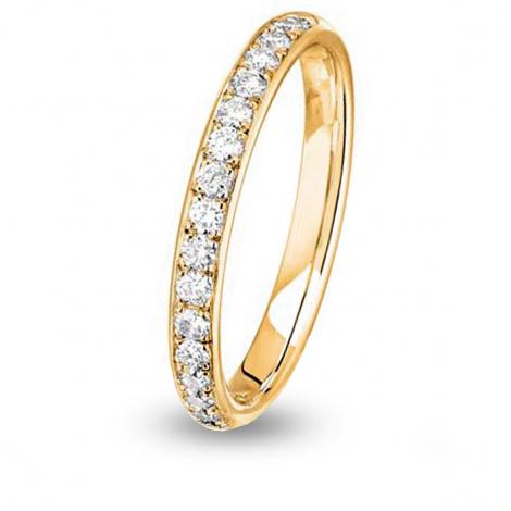 Alliance diamant Jonc Parisien demi tour Or Jaune - 0.34 ct - Rhéa